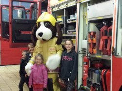 Weston-super-Mare firefighters welcome #PressToTest competition winners to fire station