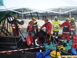 Firefighters hold rope rescue exercise at SS Great Britain