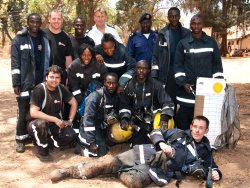 Group of Gambian and Avon Firefighters