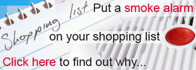 Shopping list and smoke alarm