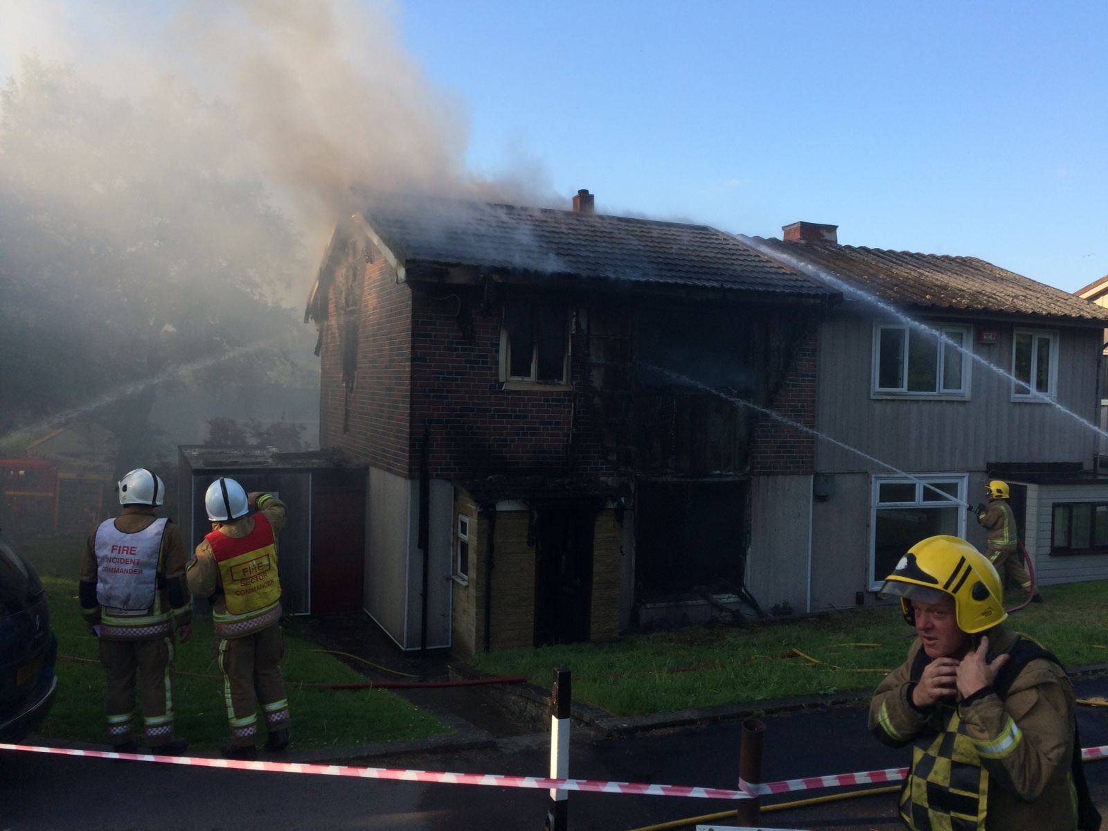 Twerton house fire tackled by crews
