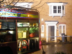 Man taken to hospital following kitchen fire