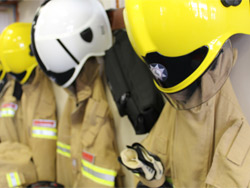 Three treated following bedroom fire