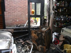 Car and garage damaged by faulty fridge fire