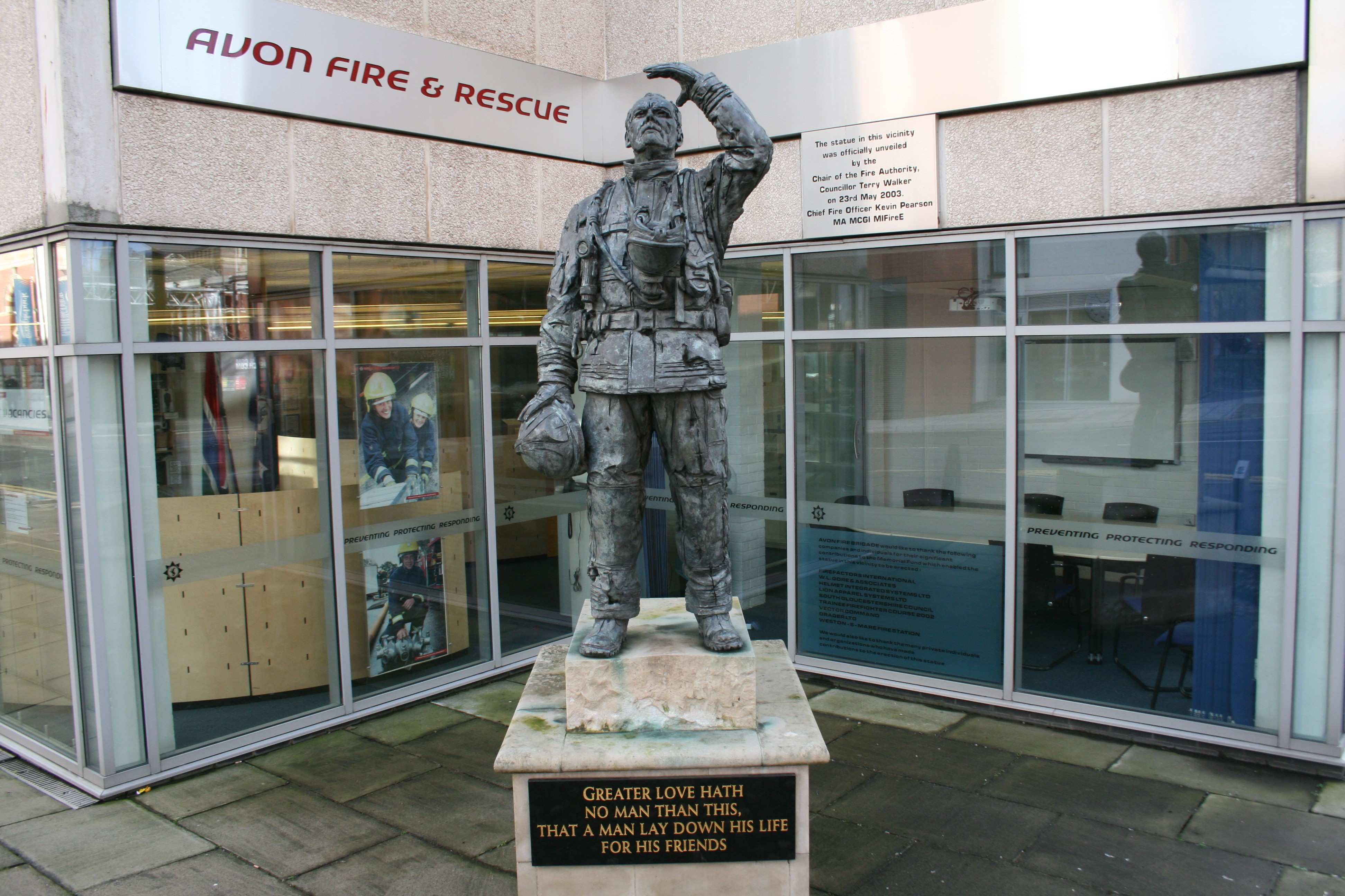 New home for firefighter memorial statue