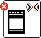Illustration advising against smoke alarms being fitted in kitchens