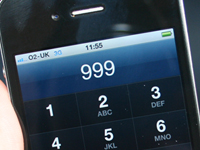 Mobile phone dialing 999