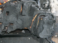 Burnt out socket