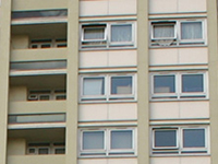 close up of a block of flats