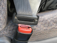 Seatbelt being used